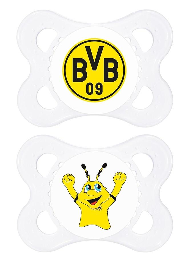 MAM-Silikon-Schnuller-ab-0-16-Monate-2-Set-Borussia-Dortmund-BVB