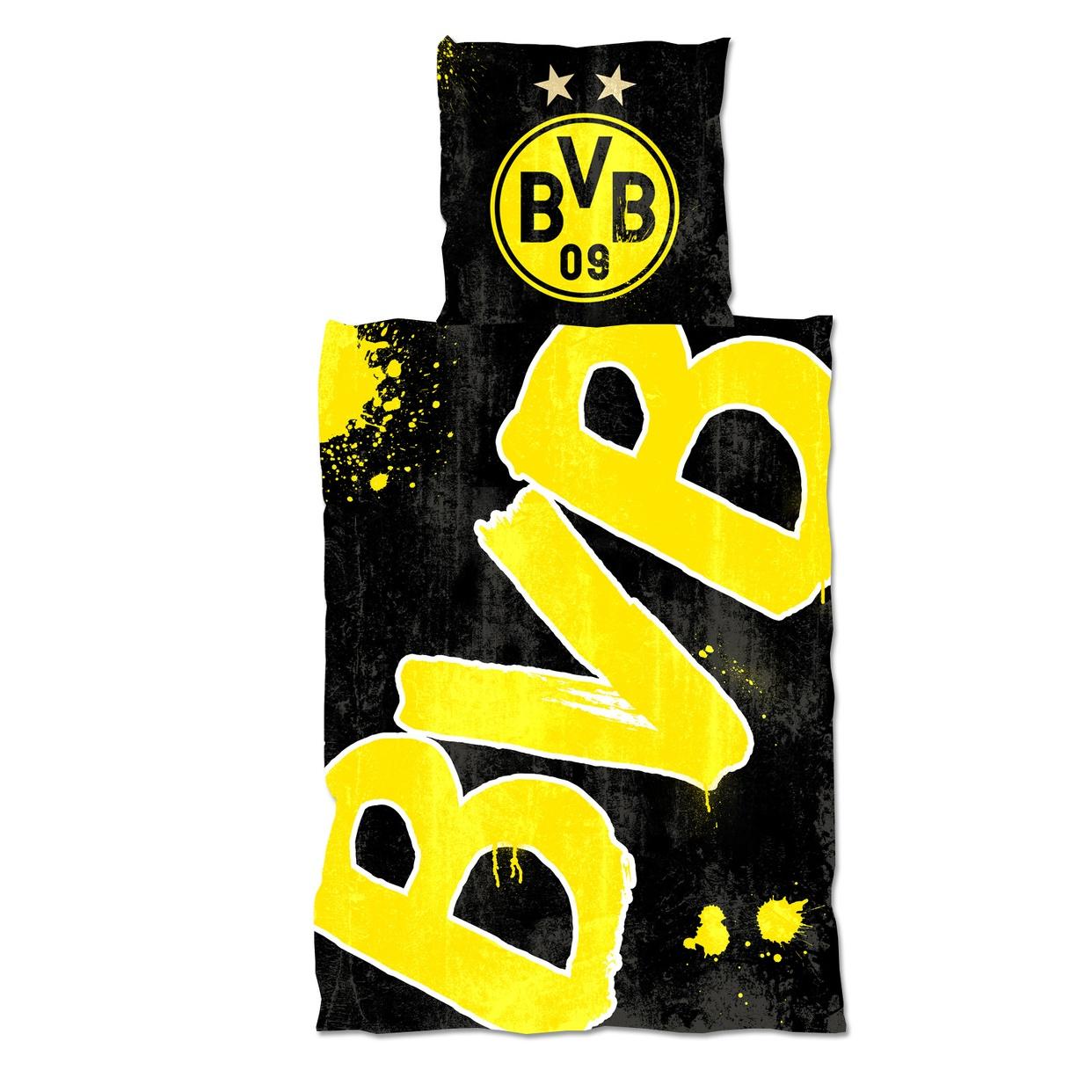 BVB-Bettwaesche-Bettbezug-Spannbettlaken-Borussia-Dortmund Indexbild 6