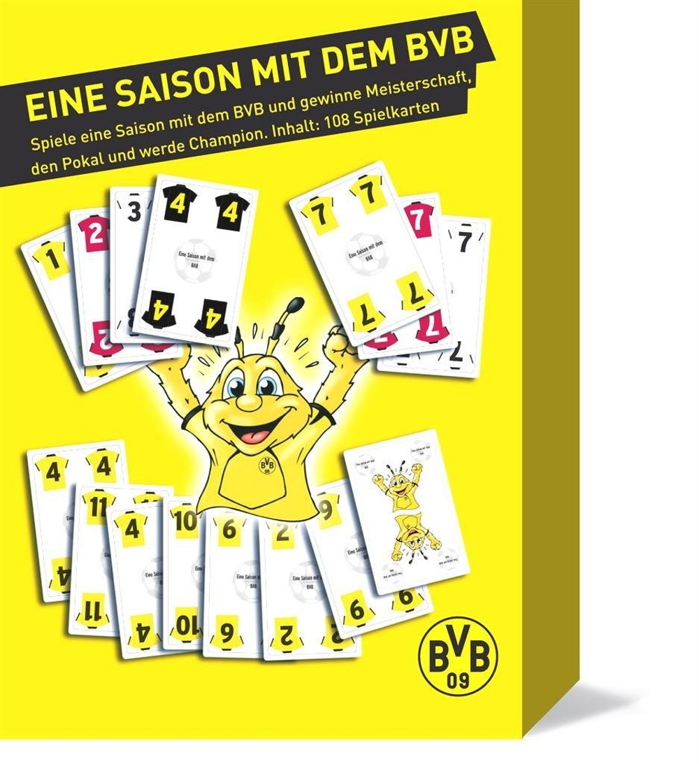kartenspiel eine saison mit bvb borussia dortmund bvb ebay. Black Bedroom Furniture Sets. Home Design Ideas