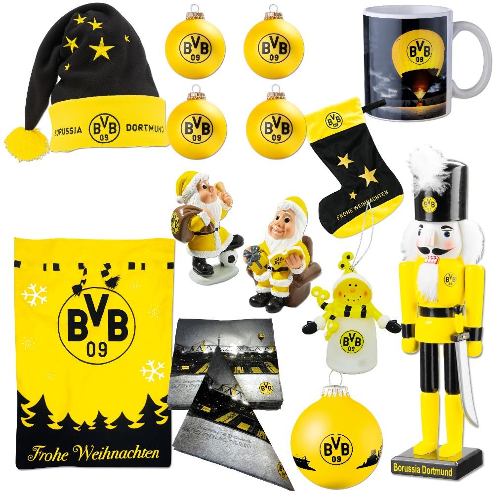 Bvb Frohe Weihnachten.Details Zu Bvb Weihnachtsartikel Tasse Mutze Zwerg Nussknacker Borussia Dortmund