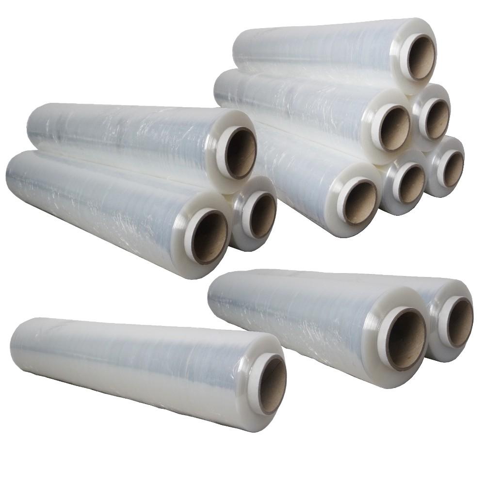 Rollen Stretchfolie Plastikfolie Verpackungsfolie 500mmx300m transparent 23my