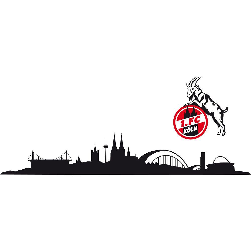 1 Fc Koln Wandtattoo Skyline Dreiteilig 100x18 Cm Logo Ca 23x27 Cm Ebay
