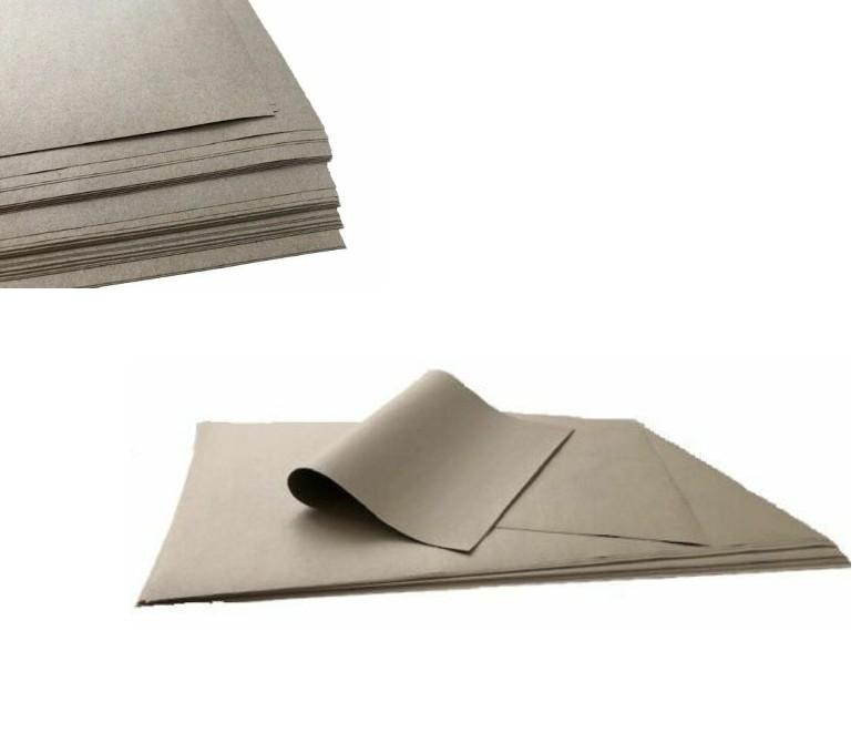 Schrenzpapier Packpapier 80;100;120g/m² grau auf 50x75cm Bogen