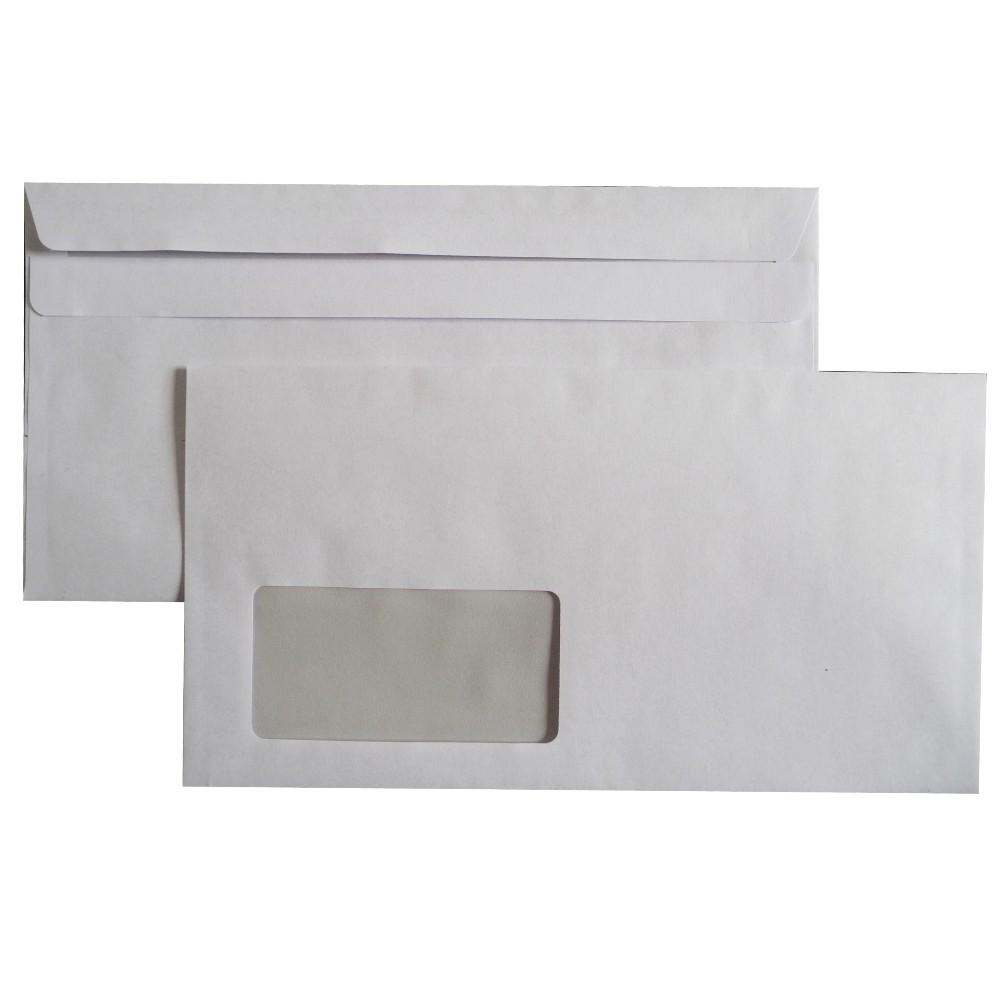 Briefumschläge selbstklebend m. Fenster 125x235 mm kompakt 75 g/m²